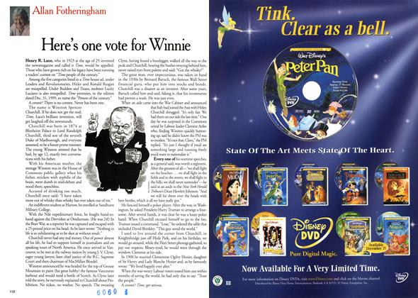 Article Preview: Here's one vote for Winnie, December 1999 | Maclean's