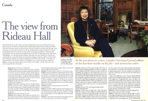 Article Preview: The view from Rideau Hall, January 2000 | Maclean's