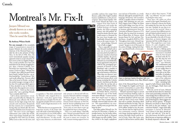 Article Preview: Montreal's Mr. Fix-It, January 2000 | Maclean's