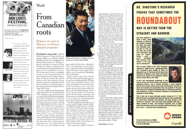 Article Preview: From Canadian roots, January 2000 | Maclean's