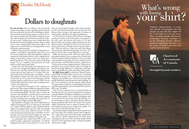 Article Preview: Dollars to doughnuts, January 2000 | Maclean's