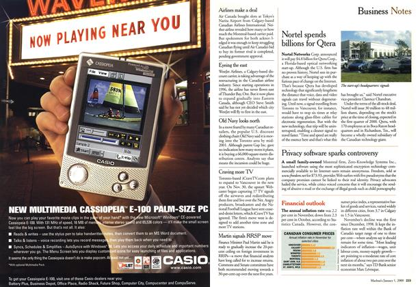 Article Preview: Business Notes, January 2000 | Maclean's