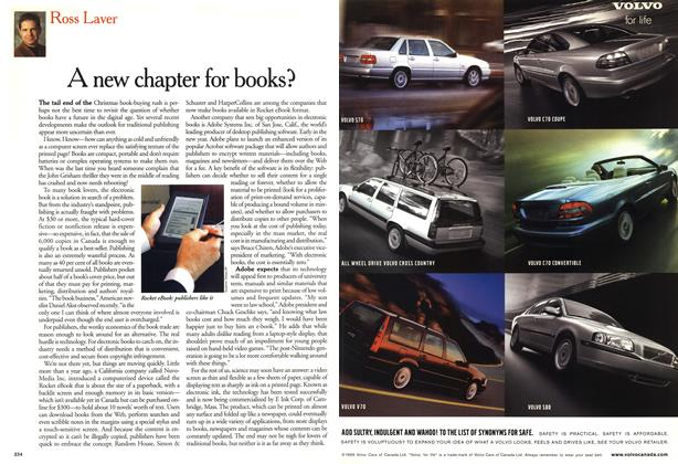 Article Preview: A new chapter for books?, January 2000 | Maclean's