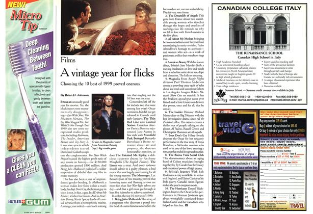 Article Preview: A vintage year for flicks, January 2000 | Maclean's