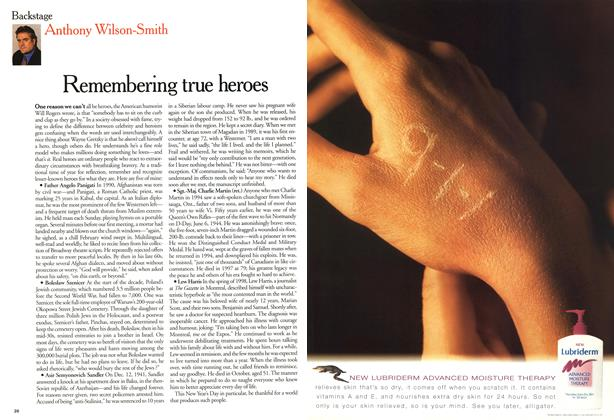 Article Preview: Remembering true heroes, January 2000 | Maclean's