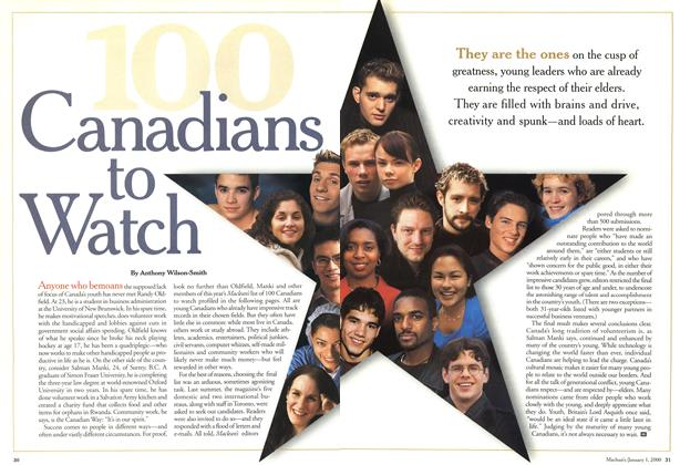 Article Preview: 100 Canadians to Watch, January 2000 | Maclean's