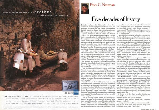 Article Preview: Five decades of history, January 2000 | Maclean's