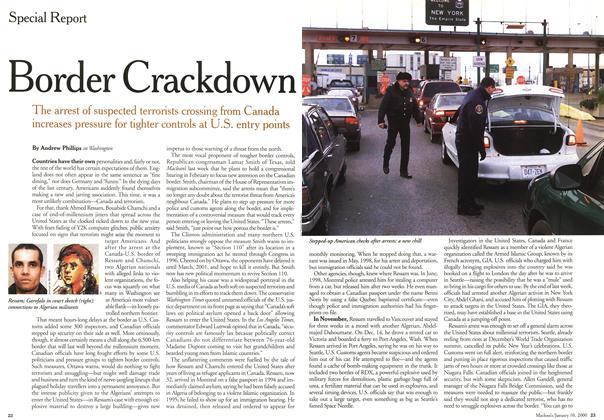Article Preview: Border Crackdown, January 2000 | Maclean's