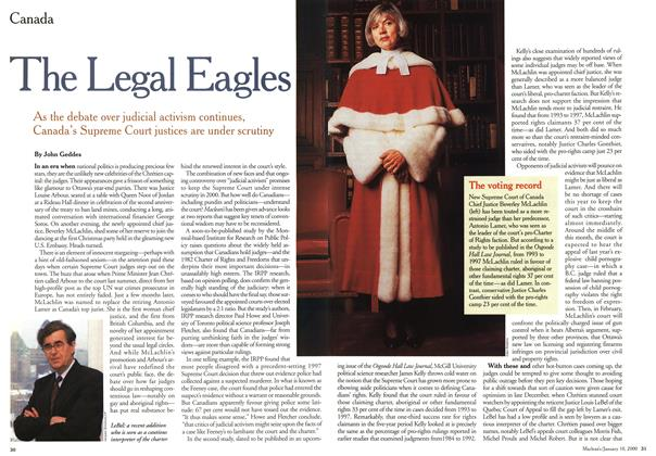 Article Preview: The Legal Eagles, January 2000 | Maclean's