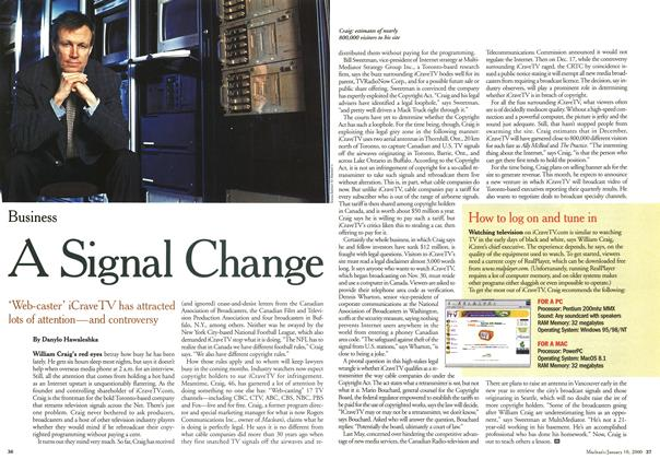 Article Preview: A Signa! ange, January 2000 | Maclean's