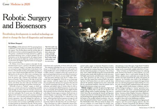 Article Preview: Robotic Surgery and Biosensors, January 2000 | Maclean's