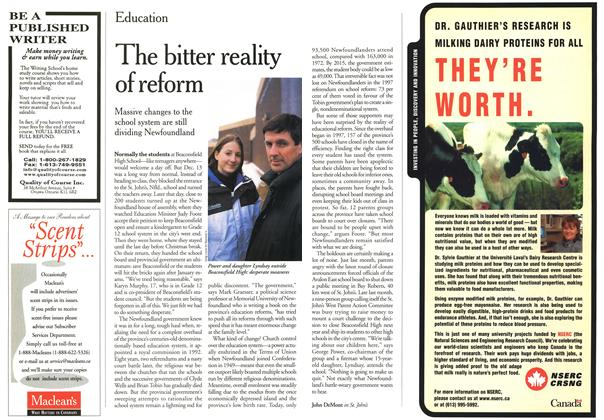 Article Preview: The bitter reality of reform, January 2000 | Maclean's