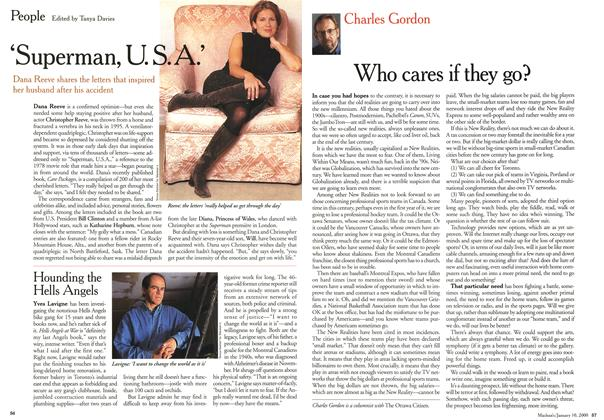 Article Preview: Who cares if they go?, January 2000 | Maclean's