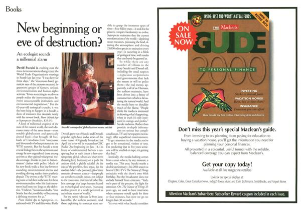 Article Preview: New beginning or eve of destruction?, January 2000 | Maclean's