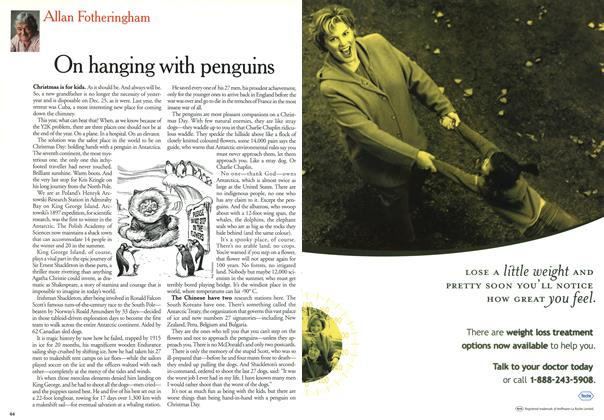 Article Preview: On hanging with penguins, January 2000 | Maclean's