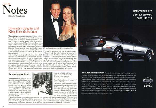 Article Preview: Opening Notes, January 2000 | Maclean's