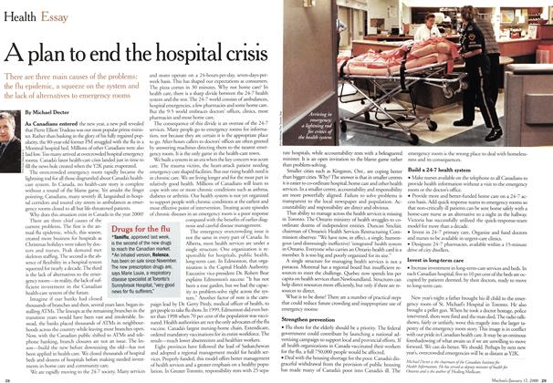 Article Preview: A plan to end the hospital crisis, January 2000 | Maclean's