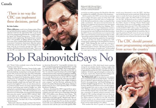 Article Preview: Bob Rabinovitch Says No, January 2000 | Maclean's