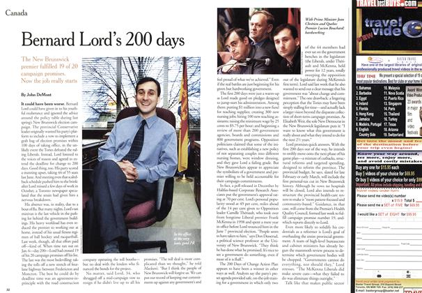 Article Preview: Bernard Lord's 200 days, January 2000 | Maclean's