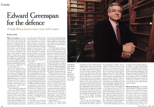 Article Preview: Edward Greenspan for the defence, January 2000 | Maclean's