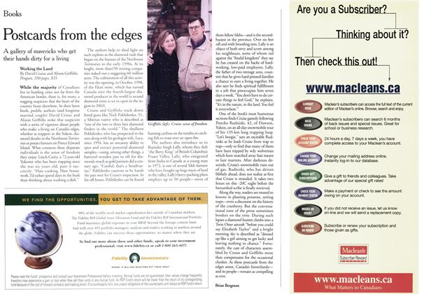 Article Preview: Postcards from the edges, January 2000 | Maclean's