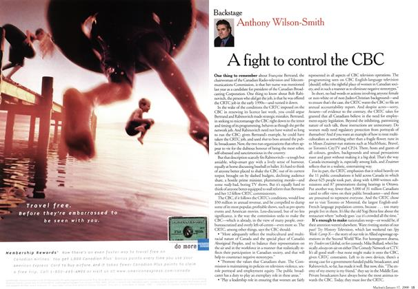 Article Preview: A fight to control the CBC, January 2000 | Maclean's