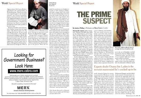 Article Preview: THE PRIME SUSPECT, January 2000 | Maclean's