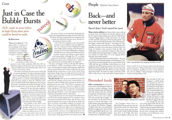 Article Preview: Just in Case the Bubble Bursts, January 2000 | Maclean's
