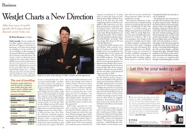 Article Preview: WestJet Charts a New Direction, January 2000 | Maclean's