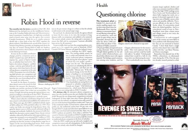 Article Preview: Questioning chlorine, January 2000 | Maclean's