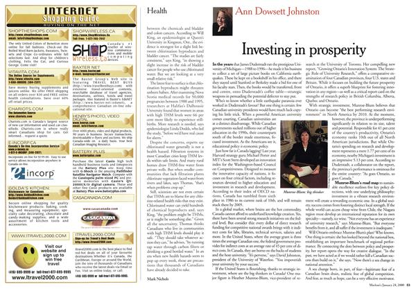 Article Preview: Investing in prosperity, January 2000 | Maclean's