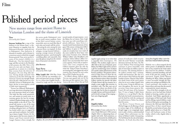 Article Preview: Polished period pieces, January 2000 | Maclean's