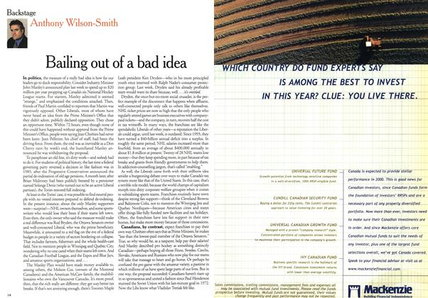 Article Preview: Bailing out of a bad idea, January 2000 | Maclean's