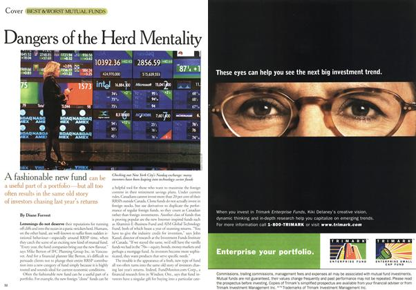 Article Preview: Dangers of the Herd Mentality, January 2000 | Maclean's