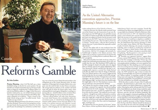 Article Preview: Reform's Gamble, January 2000 | Maclean's