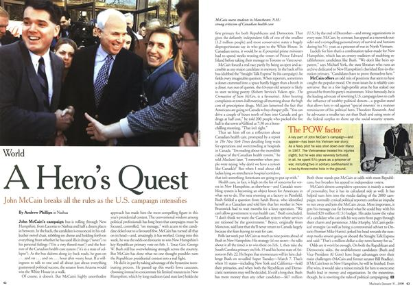 Article Preview: A Hero's Quest, January 2000 | Maclean's