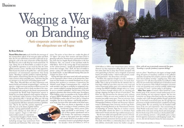 Article Preview: Waging a War on Branding, January 2000 | Maclean's