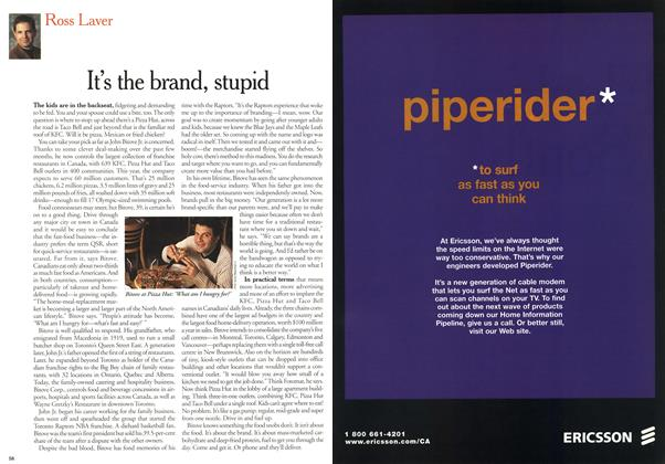 Article Preview: It's the brand, stupid, January 2000 | Maclean's