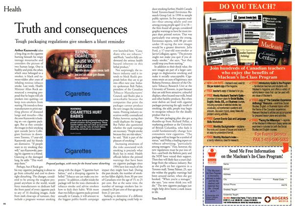 Article Preview: Truth and consequences, January 2000 | Maclean's