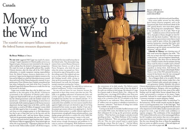 Article Preview: Money to the Wind, February 2000   Maclean's
