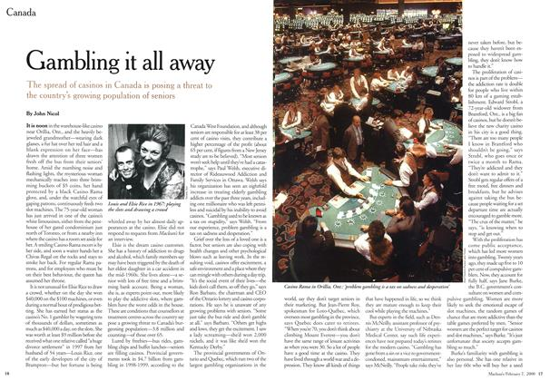 Article Preview: Gambling it all away, February 2000 | Maclean's