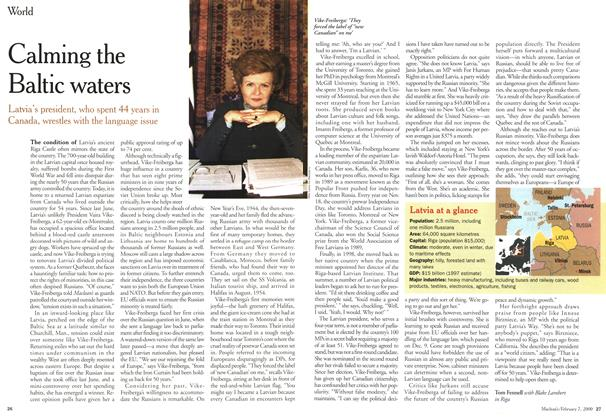 Article Preview: Calming the Baltic waters, February 2000   Maclean's