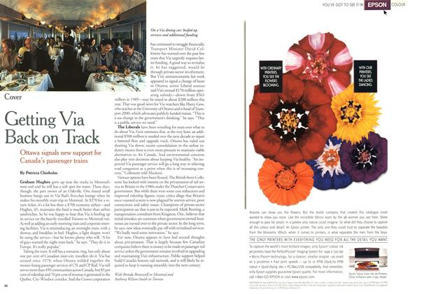 Article Preview: Getting Via Back on Track, February 2000 | Maclean's