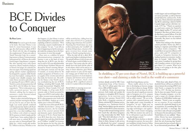 Article Preview: BCE Divides to Conquer, February 2000 | Maclean's