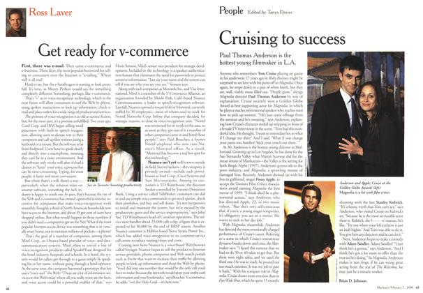 Article Preview: Cruising to success, February 2000 | Maclean's