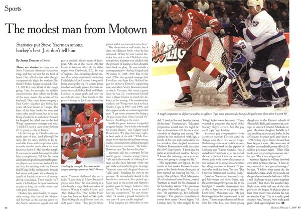 Article Preview: The modest man from Motown, February 2000 | Maclean's