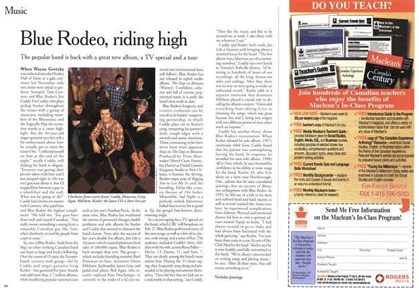 Article Preview: Blue Rodeo, riding high, February 2000 | Maclean's