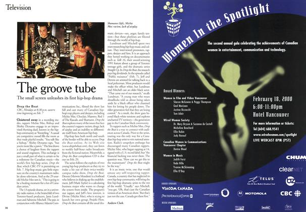 Article Preview: The groove tube, February 2000 | Maclean's