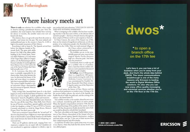 Article Preview: Where history meets art, February 2000 | Maclean's