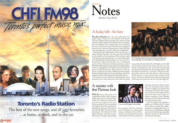 Article Preview: Opening Notes, February 2000 | Maclean's